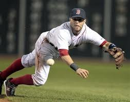 Dustin Pedroia has a new $100 million dollar contract and his team is in first place.  What could be better?  Image:  masslive.com