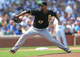 Francisco Liriano's 14 wins is tied for first in the National League.  Image:  si.com