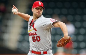 Adam Wainwright gets the ball in Game 1 against Jon Lester.  Credit:  si.com